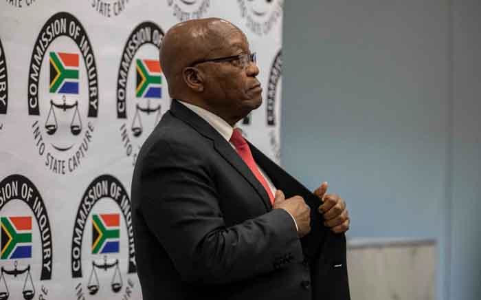 FILE: Former President Jacob Zuma prepares to give testimony at the Zondo Commission on 15 July. Picture: Abigail Javier/EWN