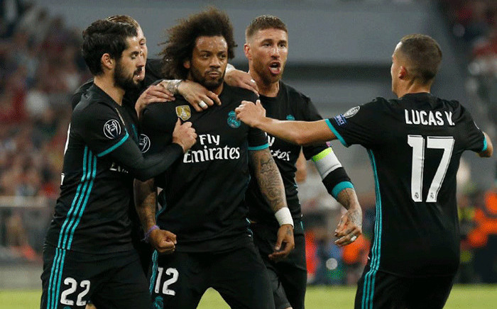 Real Madrid players celebrate a goal during their Uefa Champions League clash against Bayern Munich on 25 April 2018. Picture: Facebook.