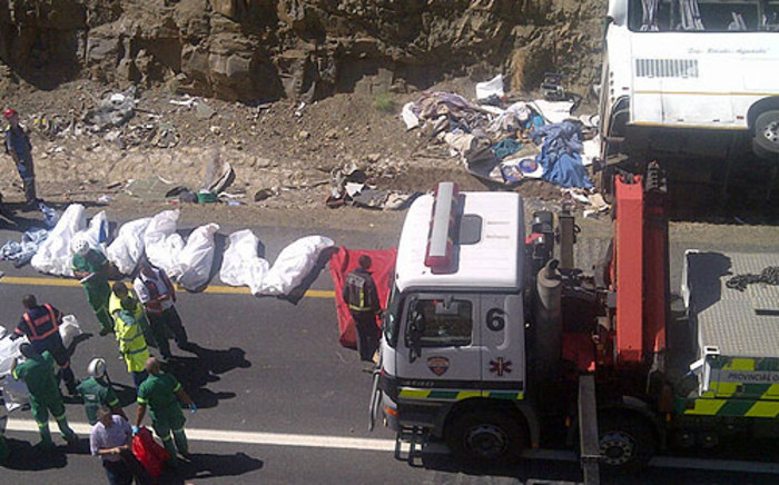 24 Khayelitsha church members died when the vehicle they were travelling in veered off the road. Picture: Renee de Villiers/EWN.