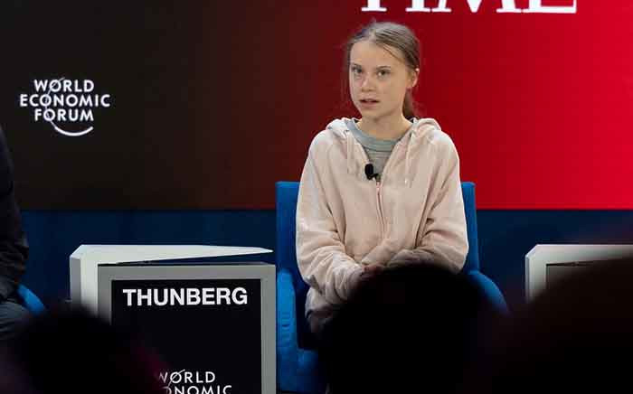 FILE: Climate activist Greta Thunberg at the World Economic Forum in Davos on 21 January. Picture: World Economic Forum/Sandra Blaser