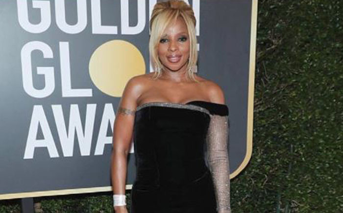 Singer Mary .J Blige at the Golen Globe awards on 7Janury 2018. Picture: Instagram/@therealmaryjblige