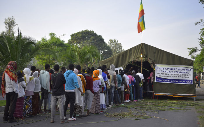 Voters wait in a queue to cast their vote during the Sidama referendum in Hawassa, Ethiopia, on 20 November 2019. Picture: AFP