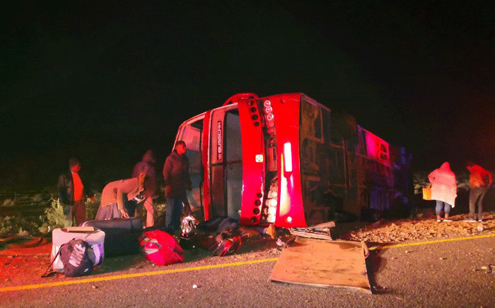 A bus crashed on the R61 near Beaufort West. At least 8 people were killed. Picture: Kenny Africa
