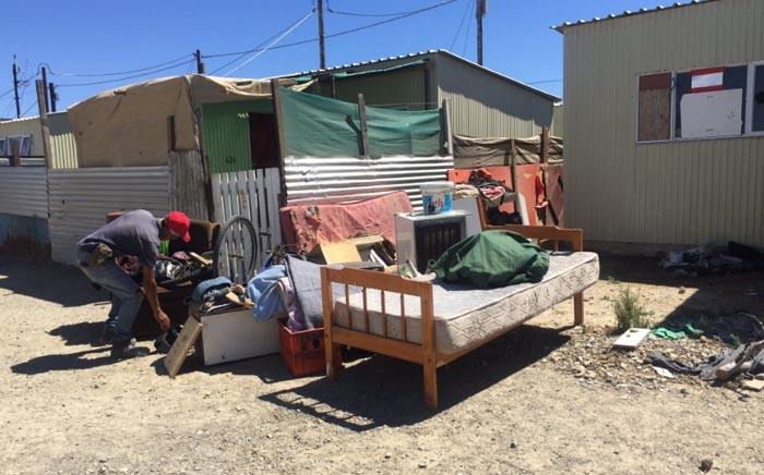 FILE: People illegally occupying emergency housing units in Wolwerivier near Atlantis have been evicted. Picture: Monique Mortlock/EWN.