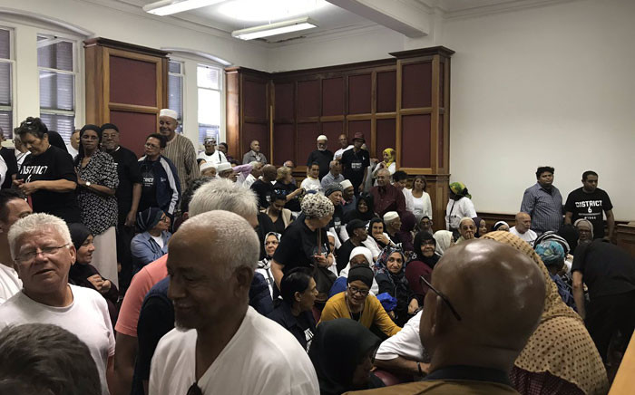 District Six land claimants pictured inside the Western Cape High Court on 26 November 2018. Picture: Monique Mortlock/EWN