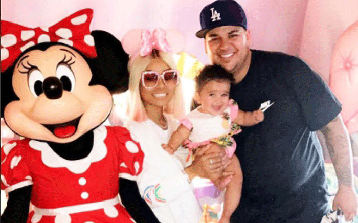 Blac Chyna and Rob Kardashian in happier times with their daughter Dream. Picture: Instagram @blacchyna