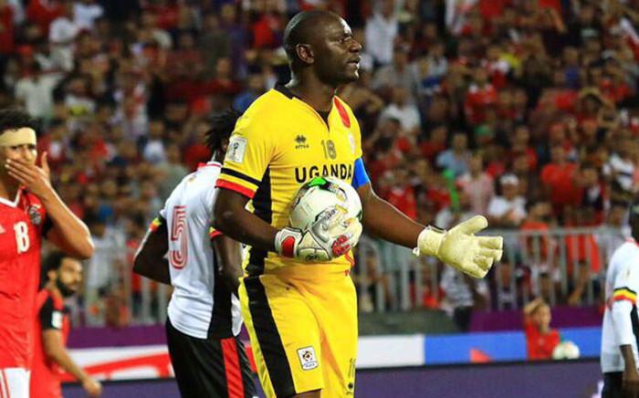 Uganda and Mamelodi Sundowns goalkeeper Denis Onyango on international duty, Picture: @masindeonyango/Twitter