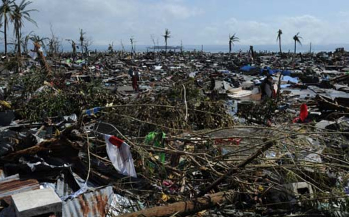Flattened houses along the Philippines coastal area in Tacloban on November 10 after super typhoon Haiyan swept over the country. Picture: AFP.