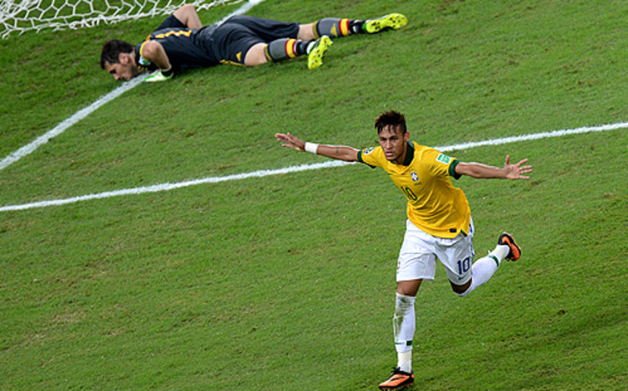 Brazil crushed world champions Spain as they won the Confederations Cup at the Maracana Stadium. Picture: AFP.