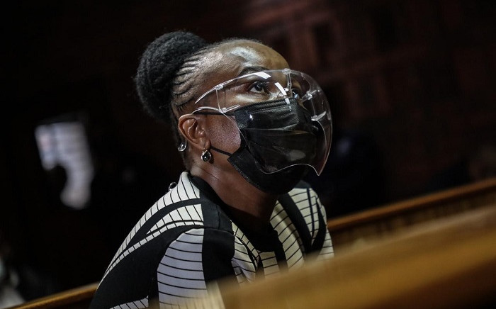 Public Protector Busisiwe Mkhwebane appeared in the Pretoria Magistrates Court on Thursday, 25 March 2021, on charges of perjury. Picture: Abigail Javier/Eyewitness News.