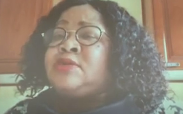 FILE: Dikeledi Magadzi gave evidence at the state capture inquiry on how the Passenger Rail Agency of South Africa (Prasa) made it difficult for MPs to do oversight work on 8 February 2021. Picture: Screenshot SABC/YouTube.