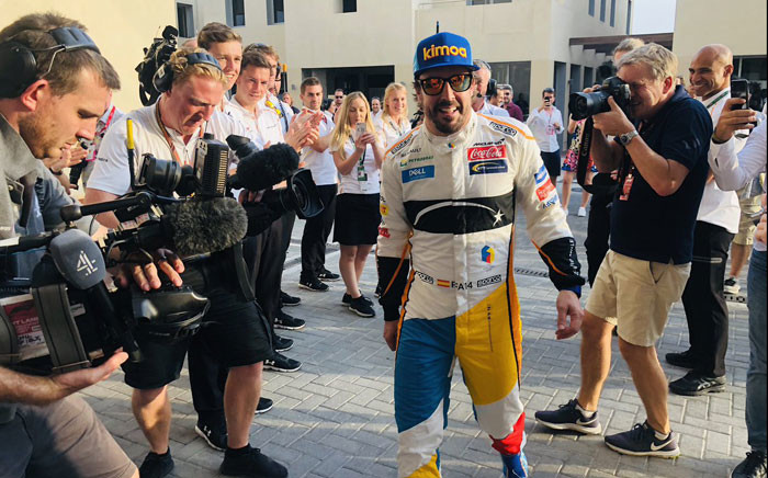 FILE: Fernando Alonso. Picture: @McLarenF1/Twitter