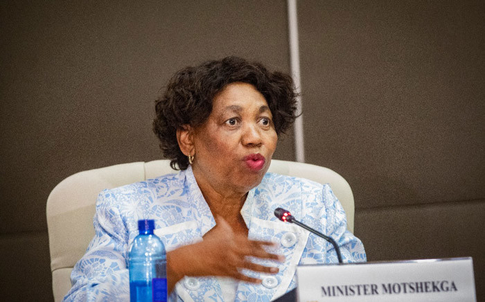Minister of Basic Education Angie Motshekga at a media briefing on 16 March 2020 on plans by government to curb the spread of the coronavirus in South Africa. Picture: Sethembiso Zulu/EWN