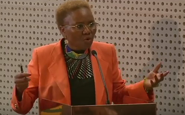 Minister of Small Business Development Lindiwe Zulu. Picture: YouTube Screengrab.