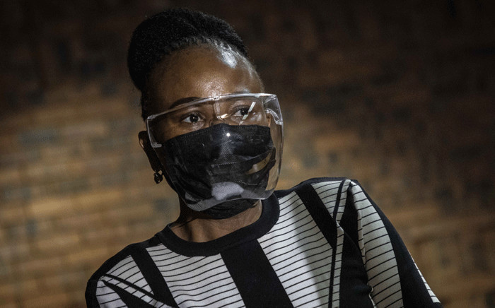 Public Protector Busisiwe Mkhwebane in the Pretoria Magistrates Court on 25 March 2021. Picture: Abigail Javier/Eyewitness News.