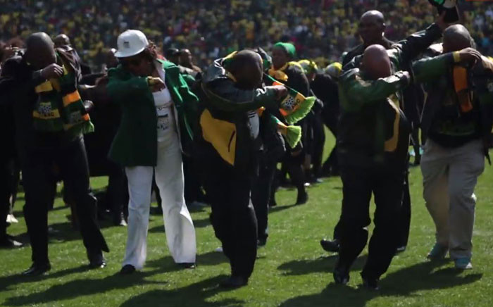 The African National Congress (ANC) leadership dabbing at the Siyanqoba Rally on 30 July 2016. Picture: EWN.