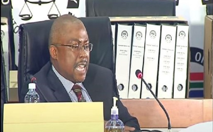 Former Transnet CEO Siyabonga Gama at the state capture commission of inquiry on Thursday, 11 March 2021. Picture: SABC Digital News/YouTube screenshot.