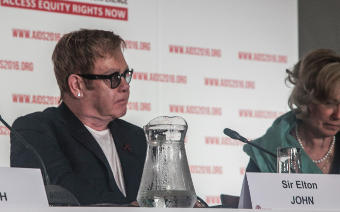 """""""British musician Sir Elton John attends a conference at the 2016 International Aids Conference in Durban. Kgothatso Mogale/EWN."""