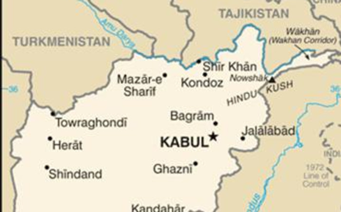 A map of Afghanistan. Picture: Supplied