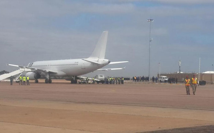74 of the 85 South Africans killed in the Nigeria building collapse arrived at the Waterkloof Air Force Base on Sunday morning 16 November 2014. Picture @Chriseldalewis via Twitter