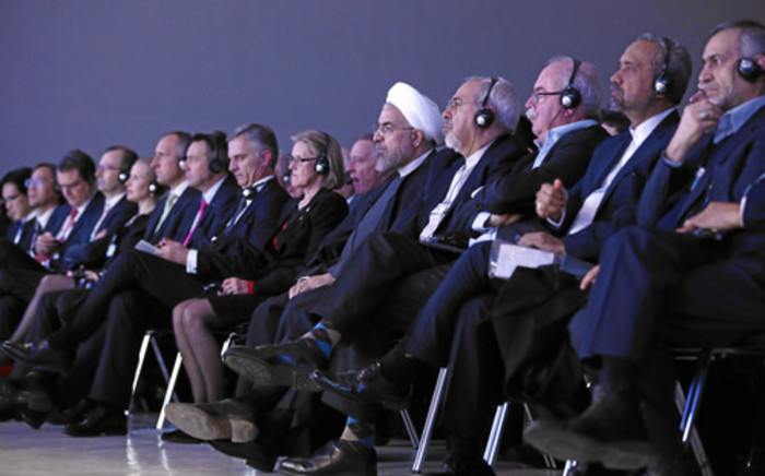 The audience listens during the session 'The Reshaping of the World: Vision from Japan' at the congress centre in Davos. Picture: swiss-image.ch