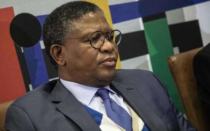 Transport Minister Fikile Mbalula addresses the media at the 2019 Southern African Transport Conference. Picture: Abigail Javier/EWN
