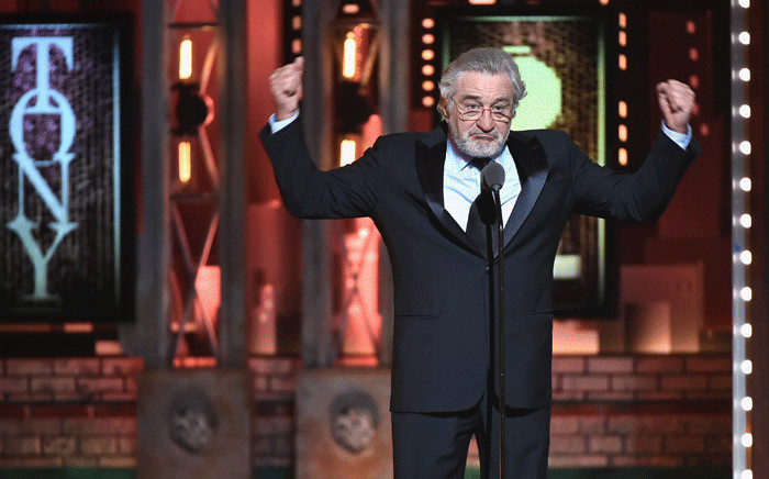 Robert De Niro speaks onstage during the 72nd Annual Tony Awards at Radio City Music Hall on 10 June 2018 in New York City. Picture: Getty Images for Tony Awards Productions/AFP