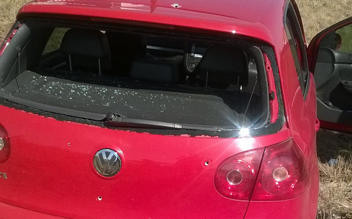 A red Golf used by suspects is believed to have been involved in the killing of two cops in Dobsonville. Picture: @SAPoliceService.