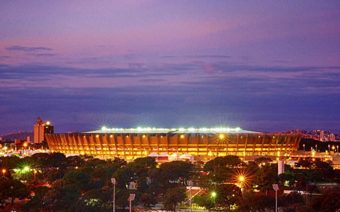 General view of the Mineirao stadium in Belo Horizonte, Minas Gerais, Brazil, on 25 June, 2013. Picture: AFP.