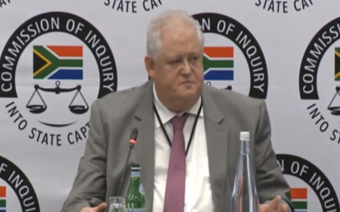 A screengrab of former Bosasa COO Angelo Agrizzi testifying at the Zondo commission of inquiry in Parktown, Johannesburg on 29 March.