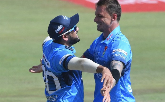 Tabraiz Shamsi and Dale Steyn during the MODC Final. Picture: @Titans_Cricket/Twitter.