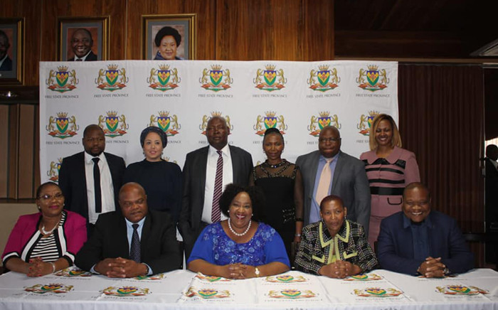 Newly sworn in Free State Premier Sisi Ntombela and members of her cabinet. Picture: Free State Provincial Government/Facebook.