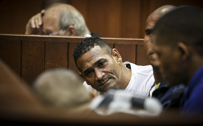 George 'Geweld' Thomas and 17 others appeared at the Western Cape High Court facing 140 charges including murder, attempted murder, conspiracy to commit murder. Picture: Thomas Holders/EWN.