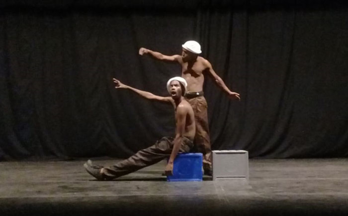 """A scene from 'What if Jesus Was a Tsoti"""" at the National Arts Festival in Makhanda. Picture: Winnie Theletsane/EWN"""