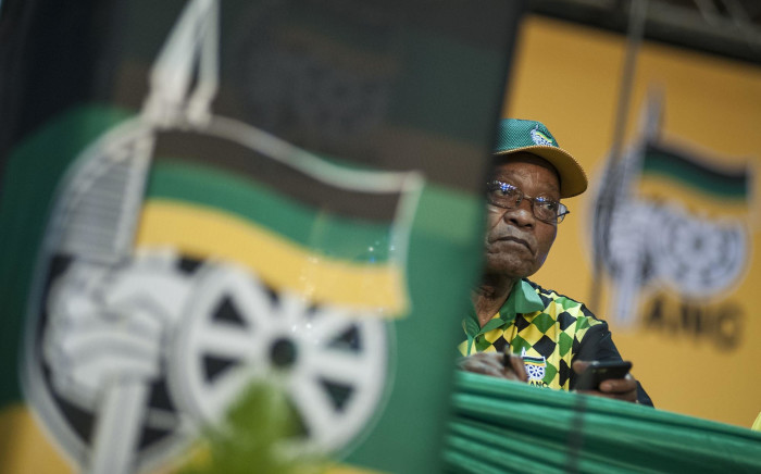 President Zuma looks on as delegates raise concerns during the nominations process at the ANC's national conference on 17 December 2017. Picture: Ihsaan Haffejee/EWN