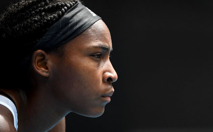 Fifteen-year-old Coco Gauff at the Australian Open on 26 January 2020. Picture: Twitter/AusOpen