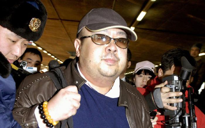 FILE: Kim Jong Nam at Beijing Airport. Picture: AFP.