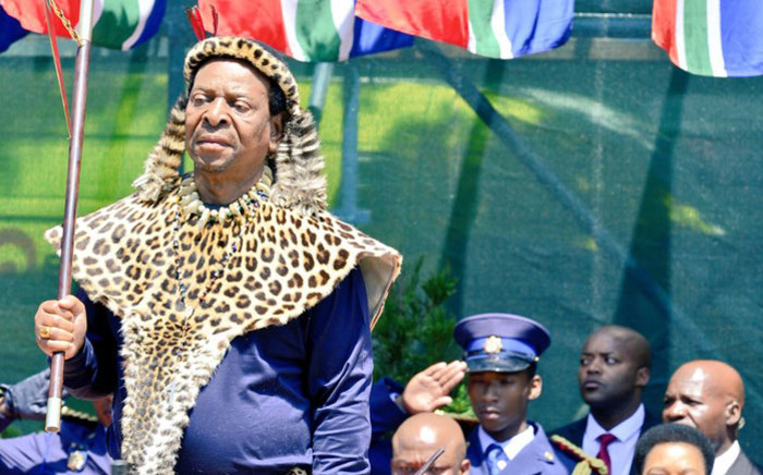FILE: Zulu King Goodwill Zwelithini opens the KwaZulu-Natal Legislature in Pietermaritzburg on 3 March 2020. Picture: @kzngov/Twitter