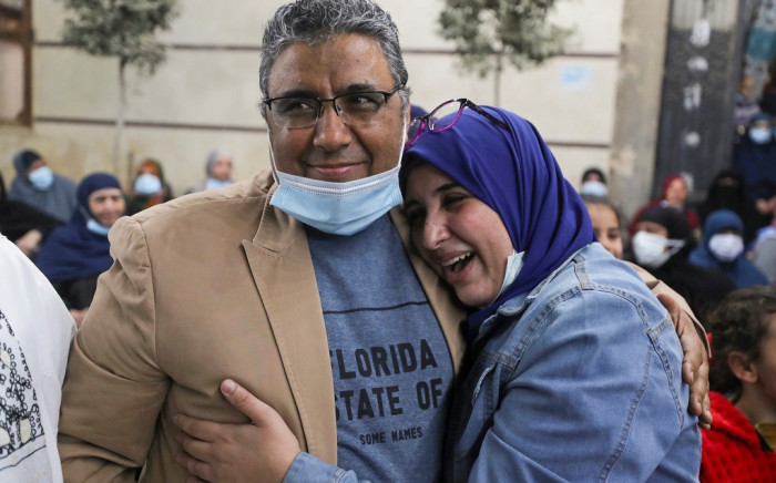 Al Jazeera's Mahmoud Hussein released from jail in Egypt after spending more than four years in detention without formal charges or trial. Picture: Al Jazeera Twitter/@AJEnglish