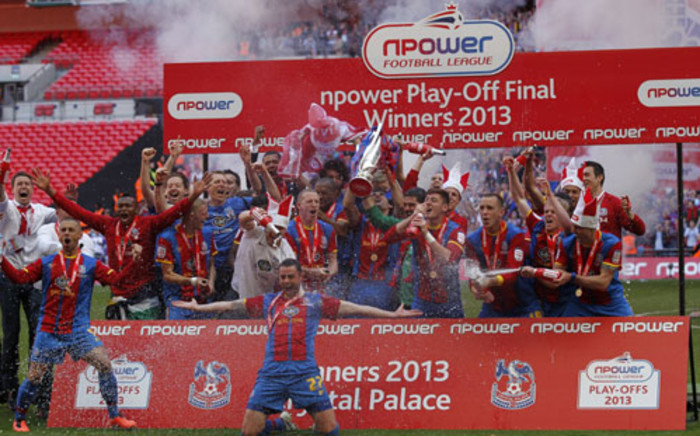 Crystal Palace won the playoff finals which promoted them into the English Premier League next season. Picture: AFP