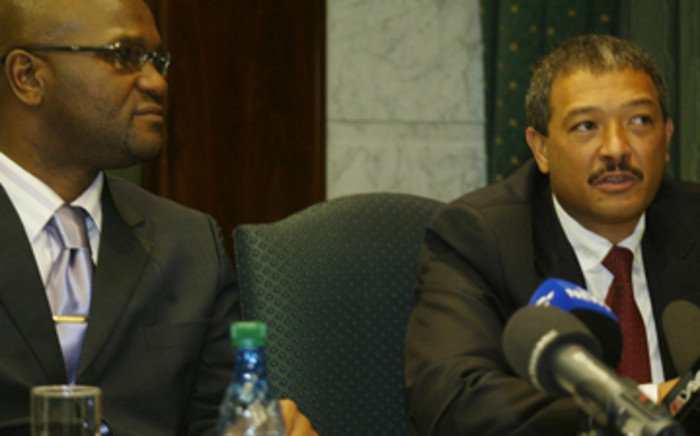 Police Minister Nathi Mthethwa (left) and Commissioner Anwa Dramat, Head of the Hawks. Picture: Eyewitness News.