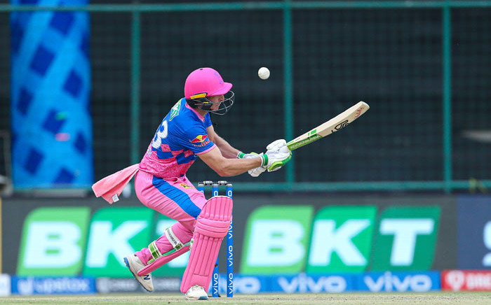 Jos Buttler in action for the Rajasthan Royals. Picture: @rajasthanroyals/Twitter