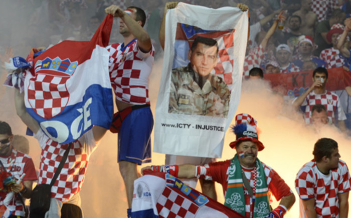 Croatian fans celebrate at Euro 2012. Picture: Odd Andersen/AFP