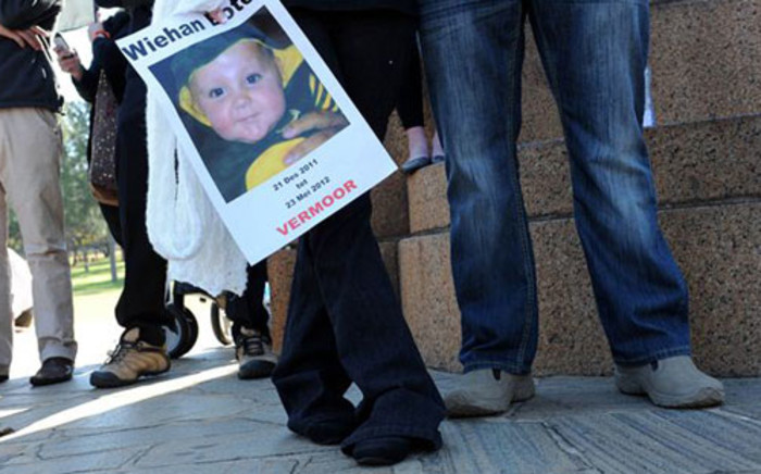 A photograph of murdered five-month-old baby Wiehan Botes. Picture: Werner Beukes/Sapa