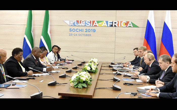 President Cyril Ramaphosa leads South African delegation to the first Russia-Africa Summit in Sochi in the Russian Federation. The forum will focus on key areas of cooperation between Russia and African countries. Picture: GCIS.