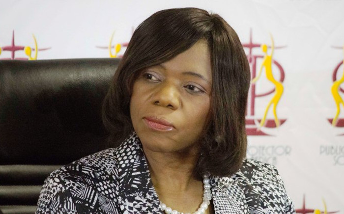 Public Protector Thuli Madonsela speaks during a media briefing in Pretoria on Thursday 28 August, 2014. Picture: Christa Eybers/EWN.