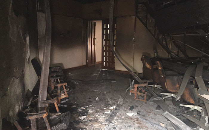 FILE: Damage at the UKZN Westville campus after a fire. Picture: Kgothatso Mogale/EWN.