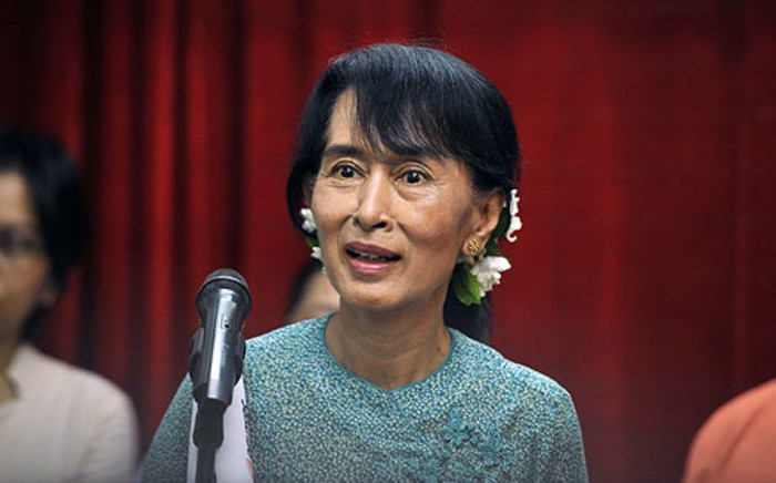 Myanmar opposition leader Aung San Suu Kyi. Picture: AFP.