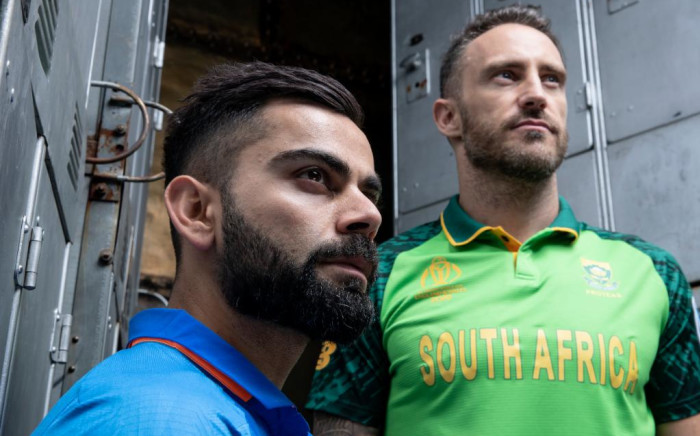 India's captain Virat Kohli and Proteas captain Faf du Plessis. Picture: @ICC/Twitter