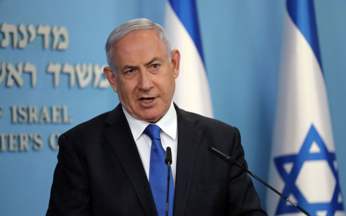 Israeli Prime Minister Benjamin Netanyahu gives a press conference in Jerusalem on 13 August 2020. Picture: AFP